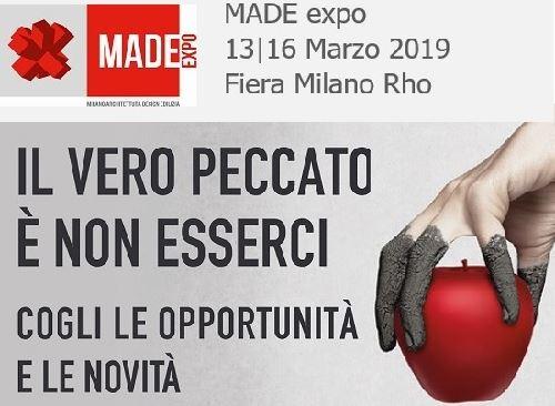 MADE EXPO -  Fiera Milano-Rho Dal 13 Al 16 Marzo 2019