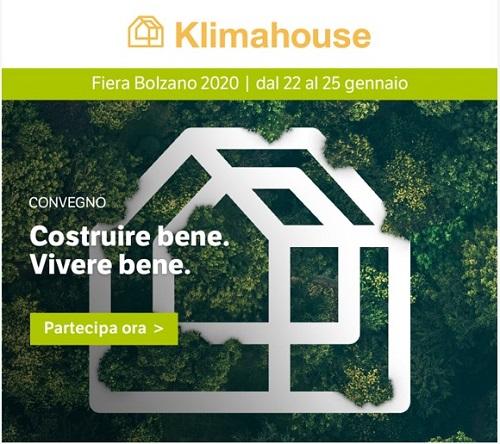 Klimahouse 2020 - Fiera Bolzano Dal 22 Al 25 Gennaio